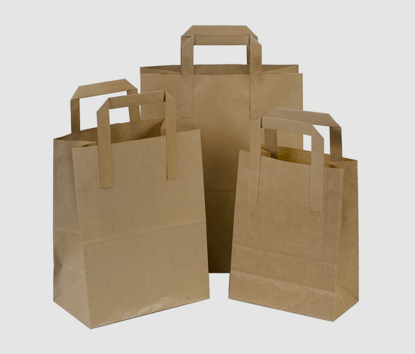 Strong Brown Paper Carrier Bags