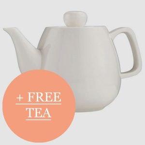Free tea when you buy this tea pot.
