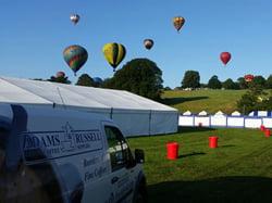 coffee festival balloons