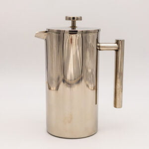 Straight Sided Stainless Steel Cafetiere Large