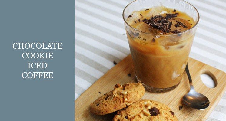 dark chocolate cookie iced coffee