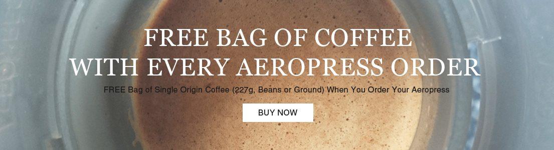 Free Coffee with Aeropress Coffee Maker