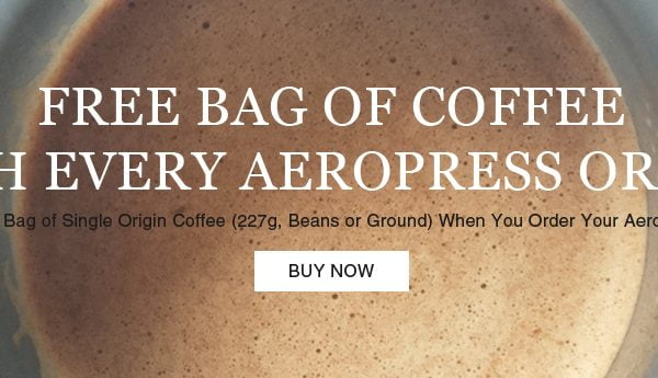 Free Coffee with Aeropress Coffee Maker