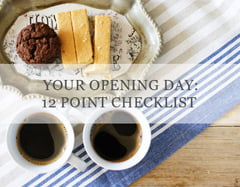 opening day checklist for coffee shops
