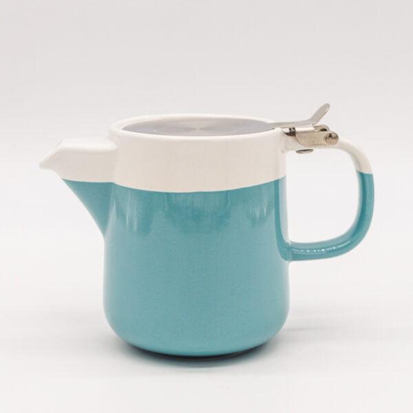 barcelona teapot blue