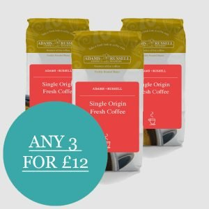Any three single origin coffees for £12