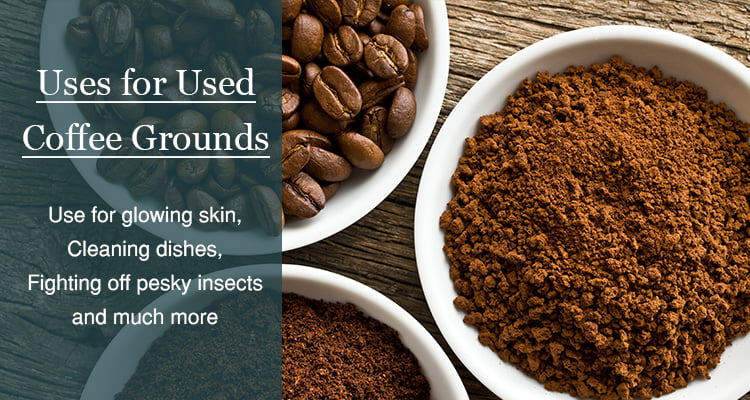 how to use used coffee grounds