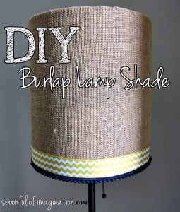 DIY hessian lamp shade