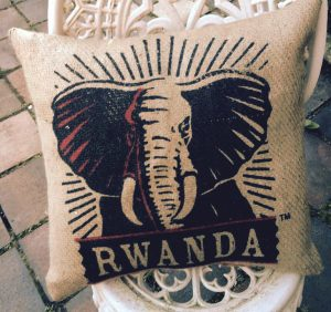 Made with coffee sack fabric