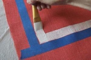 how to hessian rug