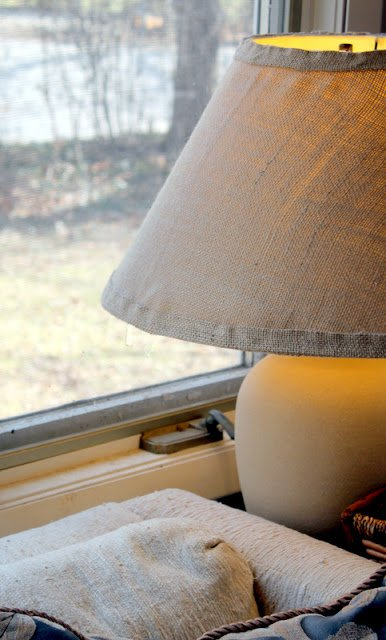 simple hessian lamp shade