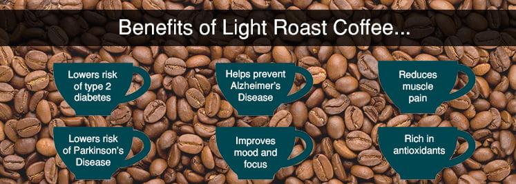 benefits of light roast coffee