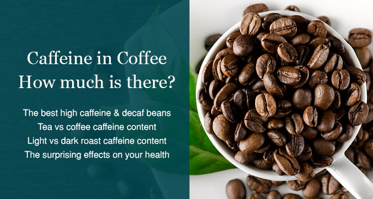how much caffeine in cup coffee