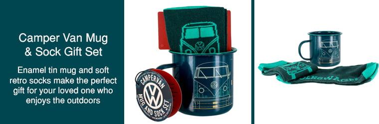 Camper Van Mug and sock gift set