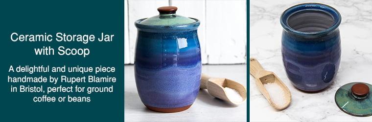Ceramic Storage Jar with Scoop