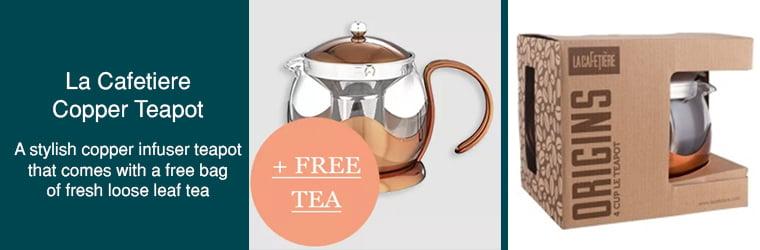 La Cafetiere Copper Teapot