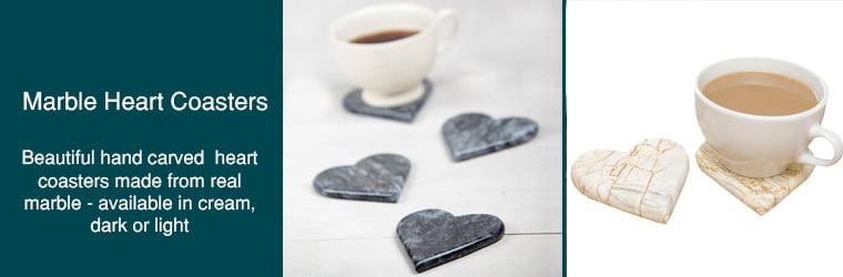 Marble Heart Coasters