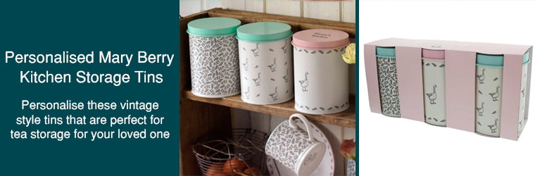 Personalised Mary Berry Kitchen Storage Tins
