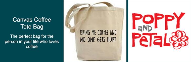 canvas coffee tote bag