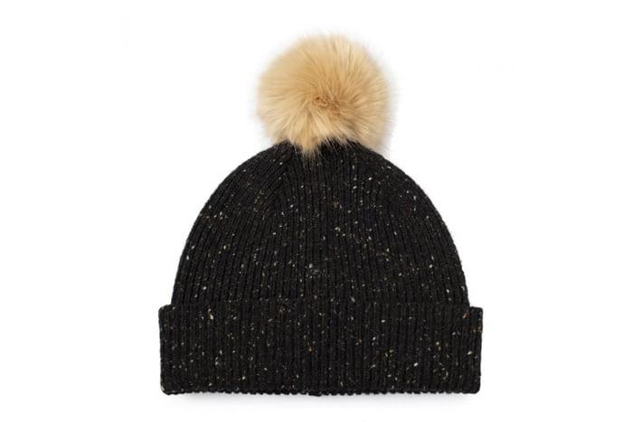 Knitted Beanie Hat with Pom Pom