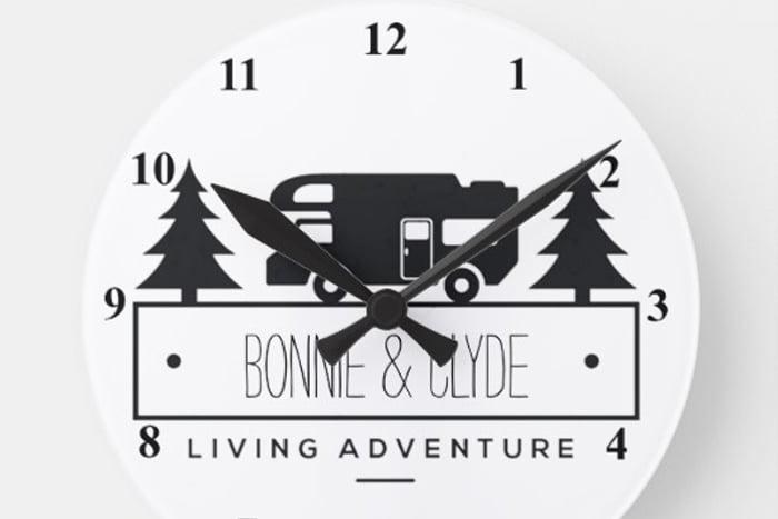 Personalised Camping Clock