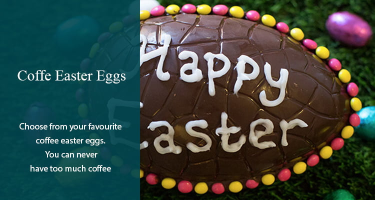 Coffee Easter Eggs Banner