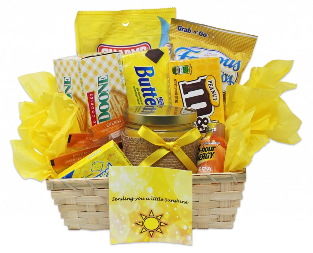 Yellow Christmas Gift Hamper Full no bg