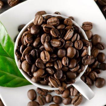 how much caffeine cup coffee